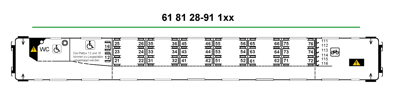 Vagonweb Descriptions Seat Map For Coach No 24 Bb Bbmvz 61
